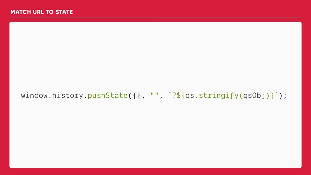 "window.history.pushState({}, """", `?${qs.stringi..."