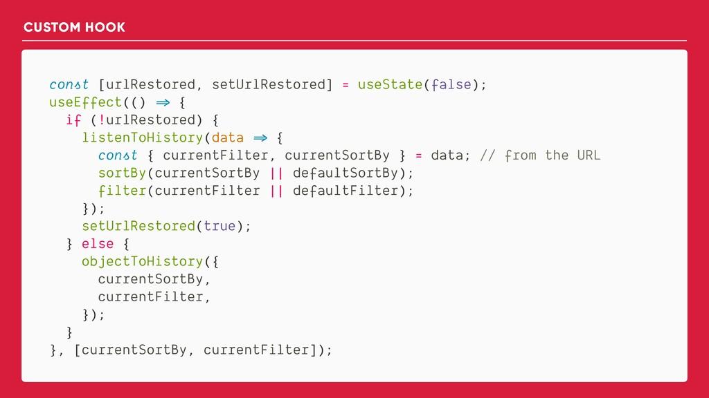 const [urlRestored, setUrlRestored] = useState(...
