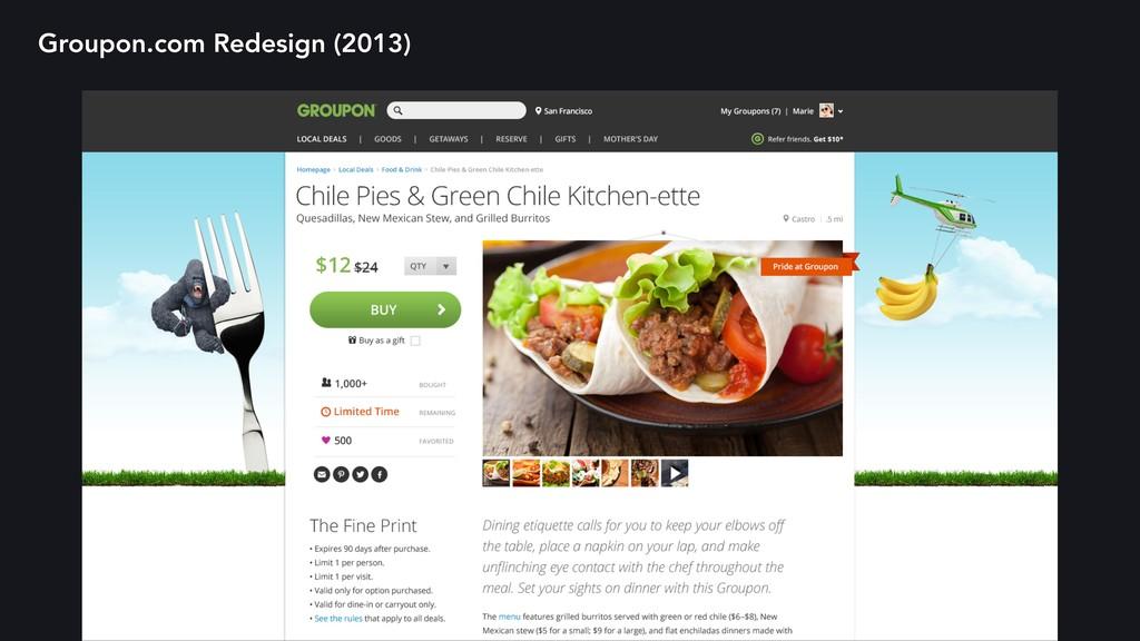 Groupon.com Redesign (2013)