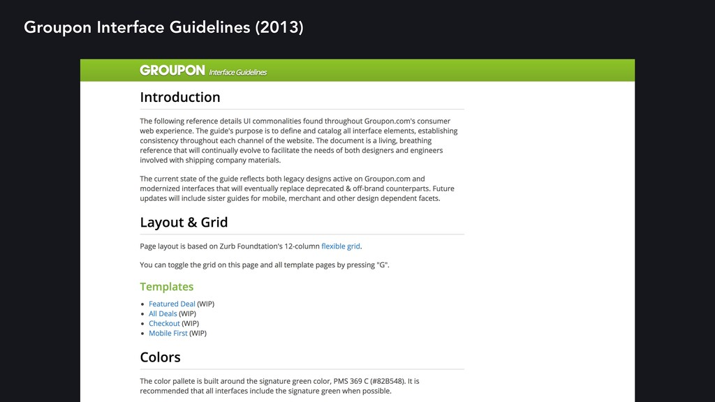 Groupon Interface Guidelines (2013)