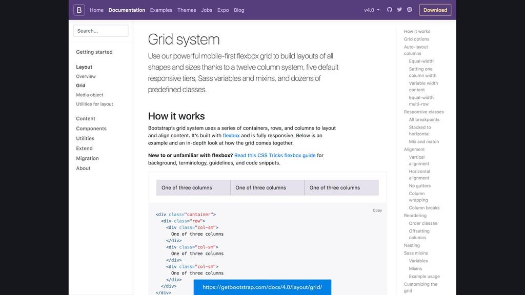 https://getbootstrap.com/docs/4.0/layout/grid/