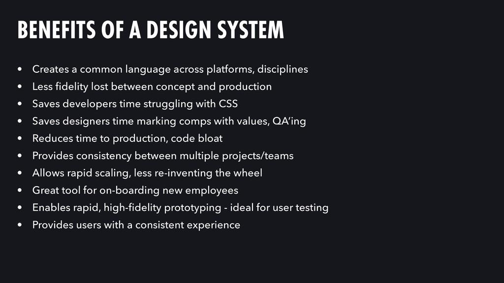 • Creates a common language across platforms, d...