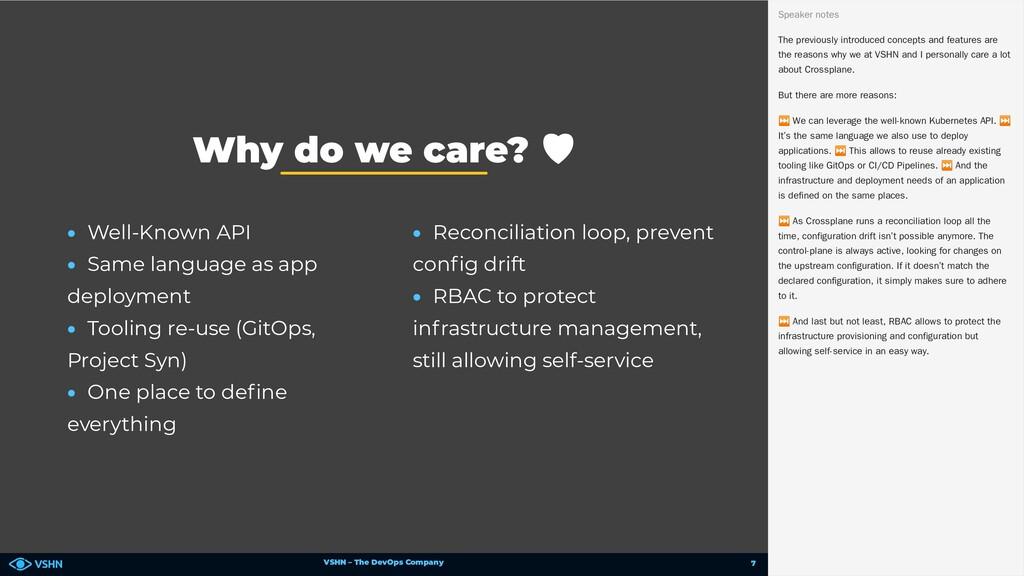 VSHN – The DevOps Company • Well-Known API • Sa...
