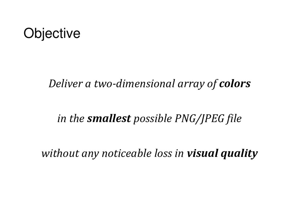 Objective Deliver a two-dimensional array of co...