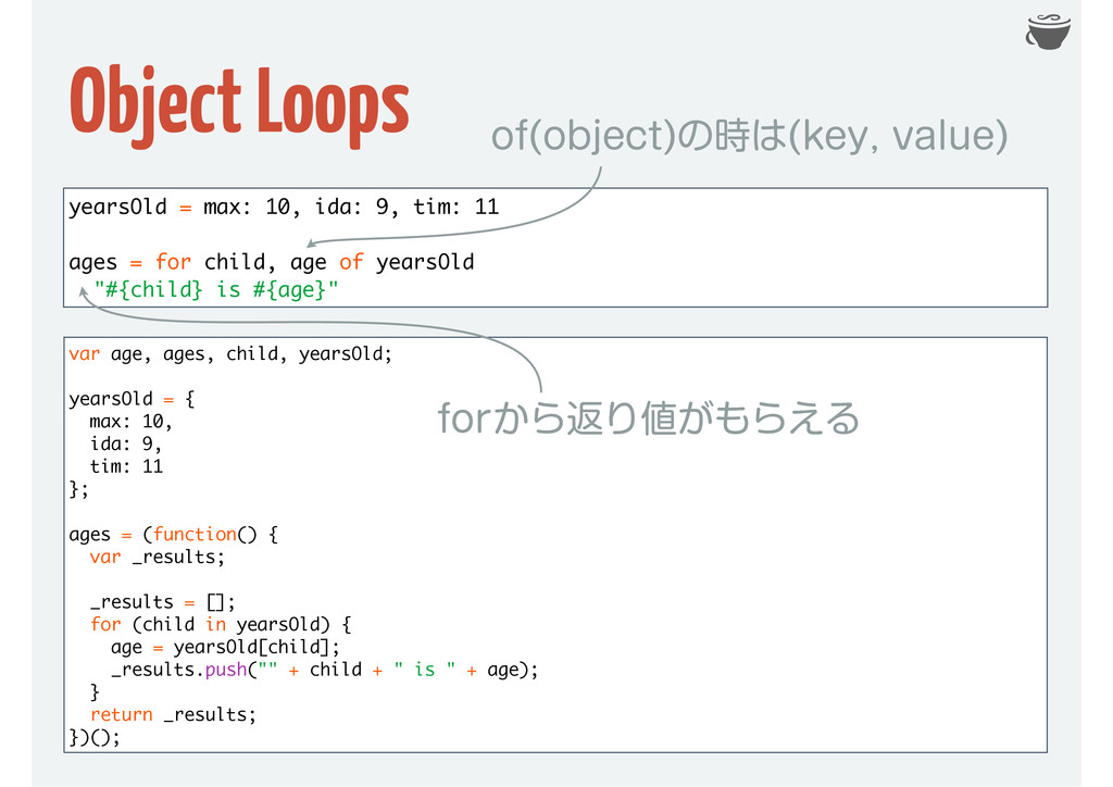 Object Loops var age, ages, child, yearsOld; ye...