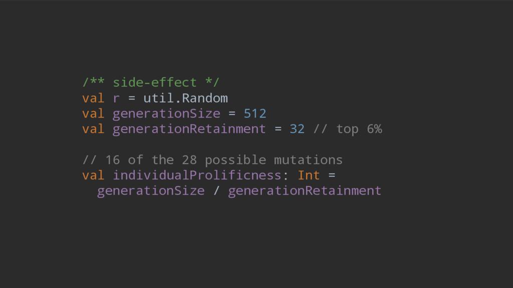 /** side-effect */ val r = util.Random val gene...
