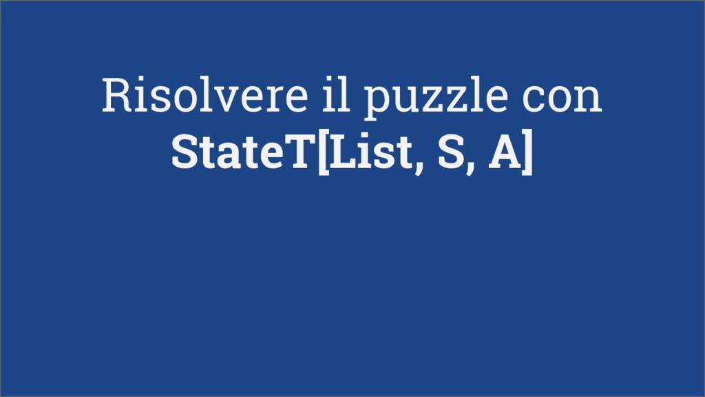 Risolvere il puzzle con StateT[List, S, A]