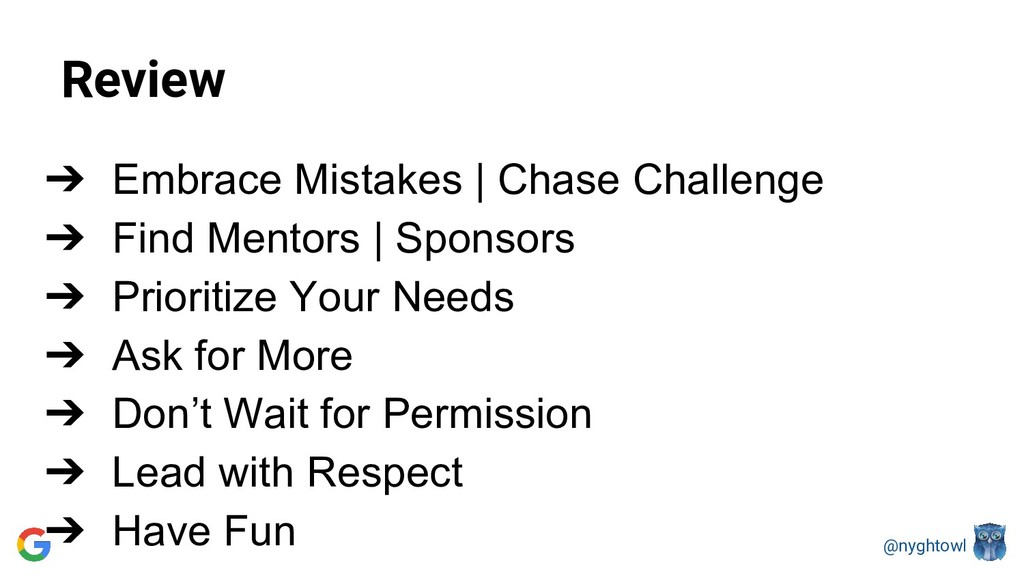 @nyghtowl Review ➔ Embrace Mistakes | Chase Cha...