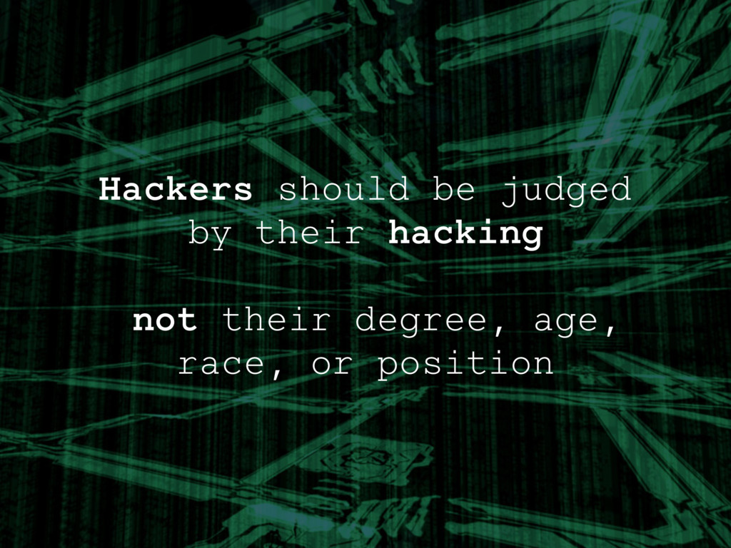 Hackers should be judged by their hacking ! not...