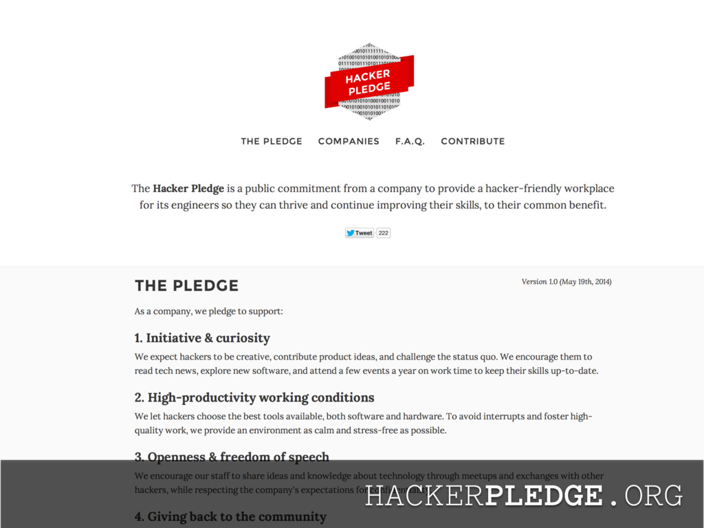 HACKERPLEDGE.ORG