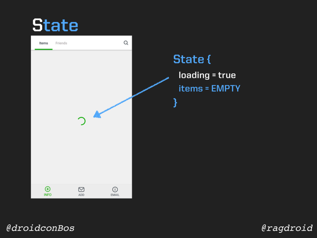 @ragdroid @droidconBos State { loading = true i...