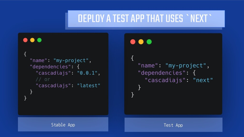 DEPLOY A TEST APP THAT USES `NEXT` Stable App T...