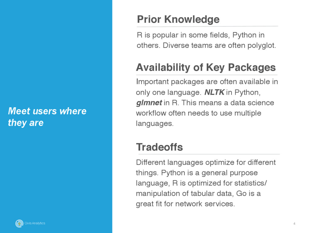 4 Prior Knowledge Meet users where they are R i...