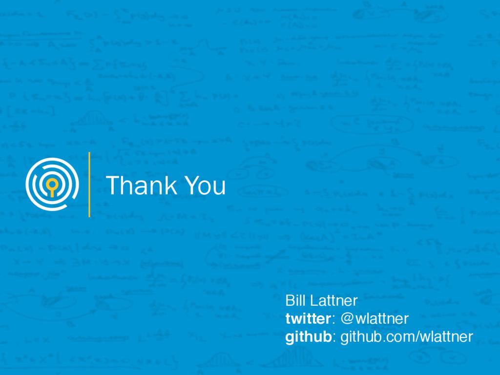 Thank You Bill Lattner twitter: @wlattner githu...