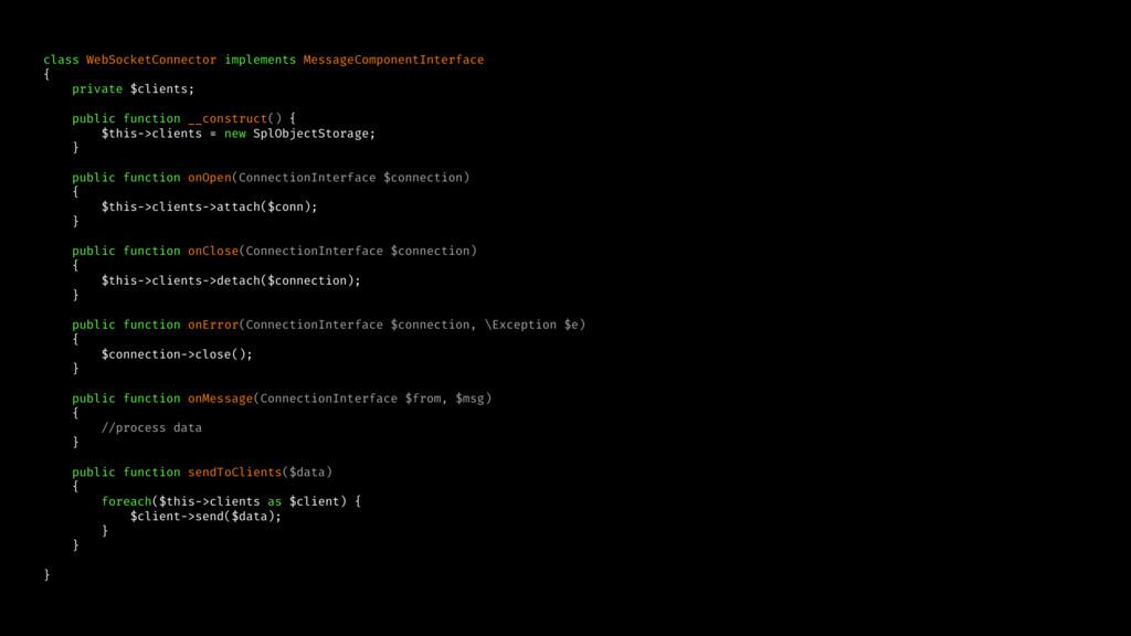 class WebSocketConnector implements MessageComp...