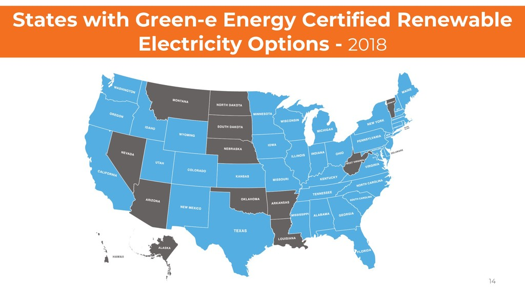 States with Green-e Energy Certified Renewable ...