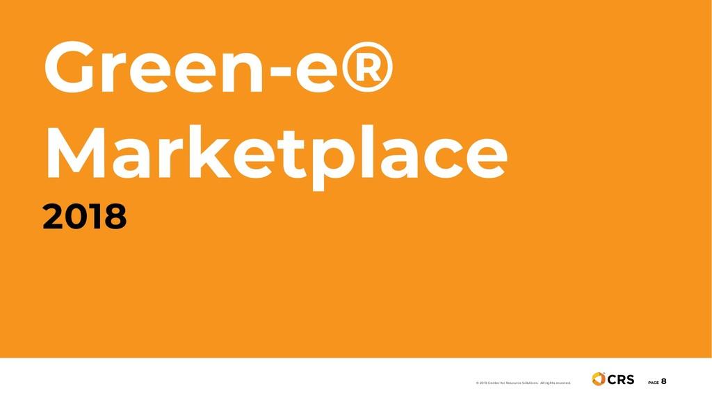 Green-e® Marketplace 2018 PAGE 8 © 2019 Center ...