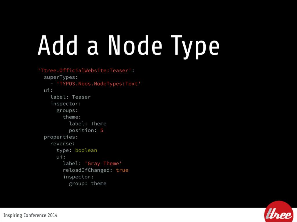 Inspiring Conference 2014 Add a Node Type 'Ttre...