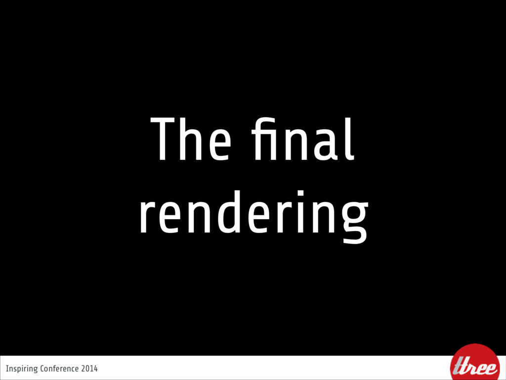 Inspiring Conference 2014 The final rendering