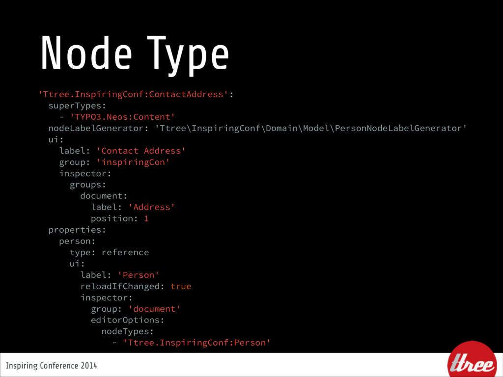 Inspiring Conference 2014 Node Type 'Ttree.Insp...
