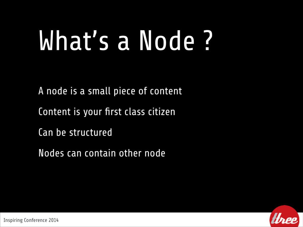 Inspiring Conference 2014 What's a Node ? A nod...