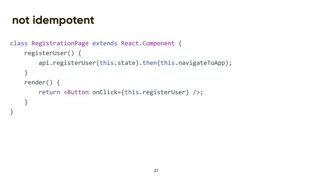 not idempotent class RegistrationPage extends R...