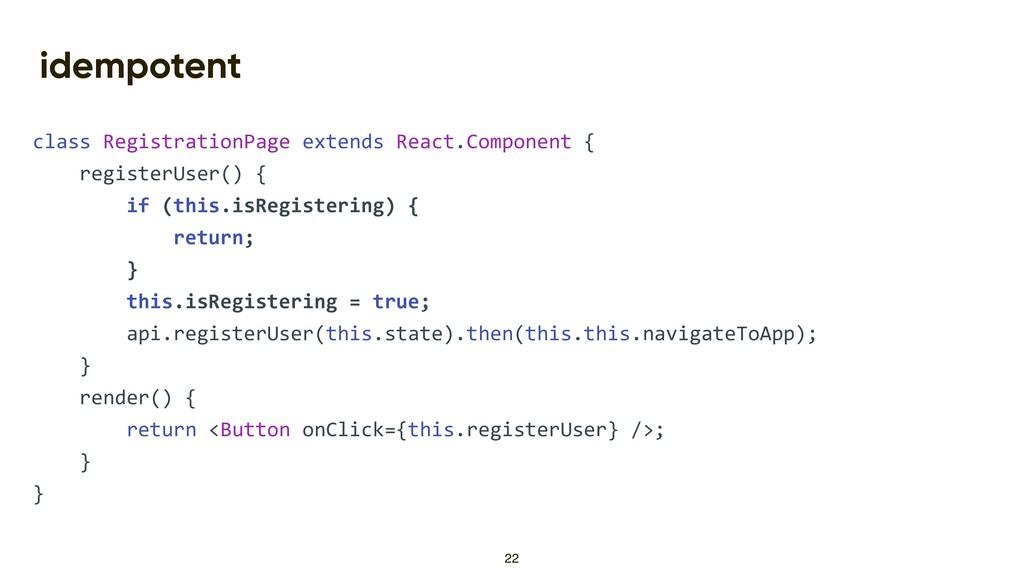 idempotent class RegistrationPage extends React...