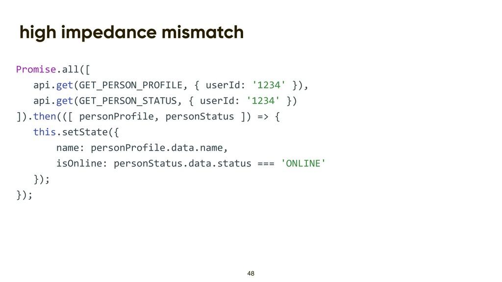 high impedance mismatch Promise.all([ api.get(G...