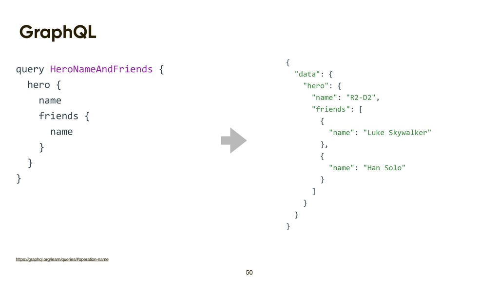 GraphQL query HeroNameAndFriends { hero { name ...