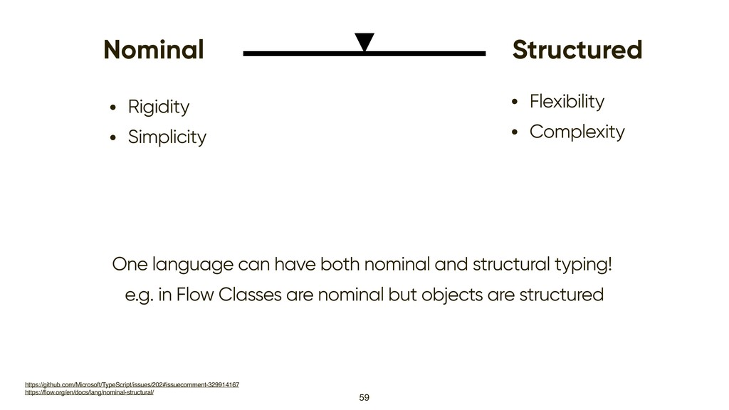 59 Nominal Structured • Rigidity • Simplicity •...