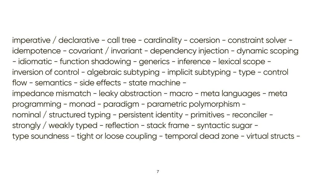 imperative / declarative - call tree - cardinal...