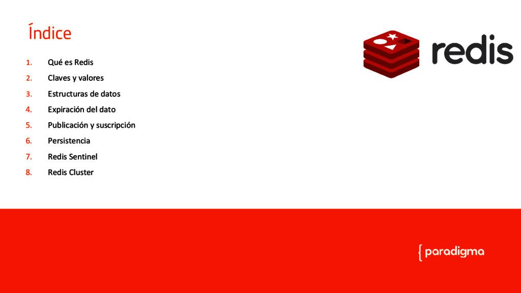 Introducción a Redis 1. Qué es Redis 2. Claves ...