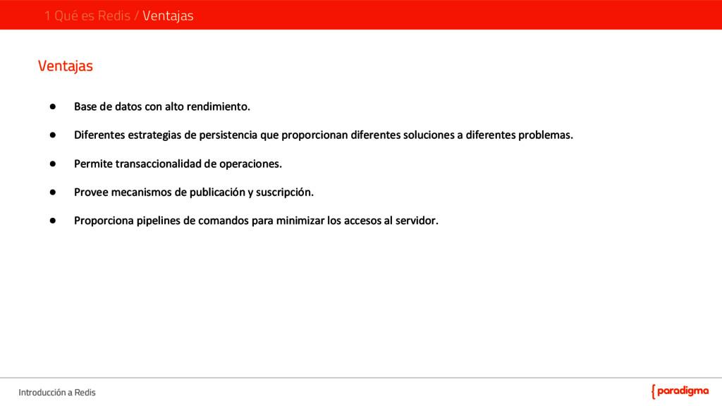 Introducción a Redis 1 Qué es Redis / Ventajas ...