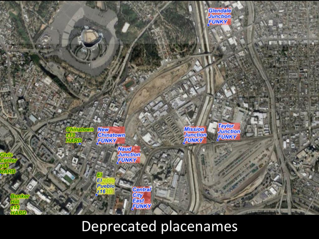 Deprecated placenames