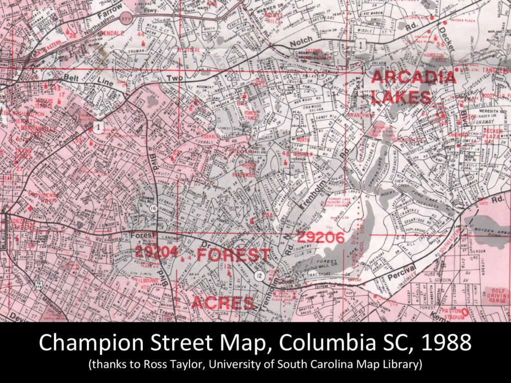 Champion Street Map, Columbia SC,...