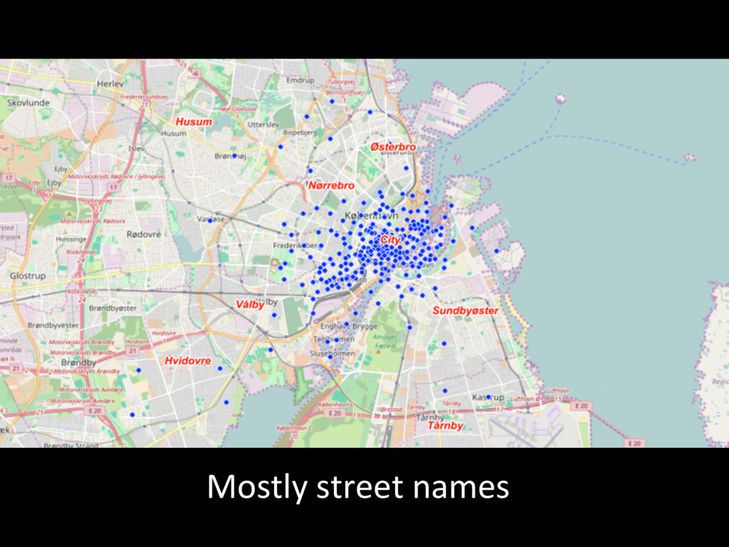 Mostly street names