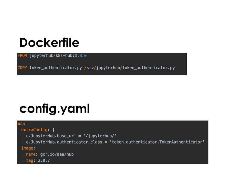 config.yaml Dockerfile