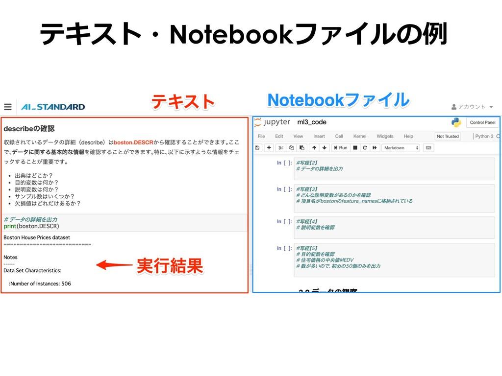 テキスト・Notebookファイルの例