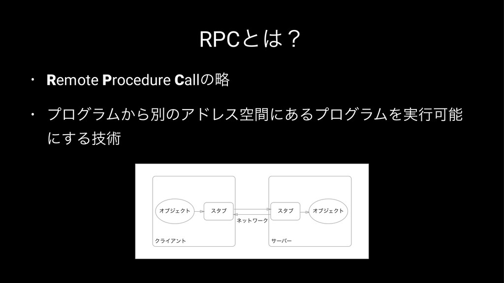 RPCͱʁ • Remote Procedure Callͷུ • ϓϩάϥϜ͔ΒผͷΞυϨ...