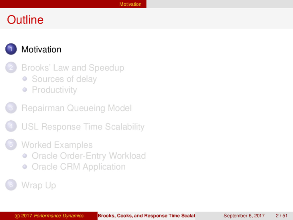 Motivation Outline 1 Motivation 2 Brooks' Law a...