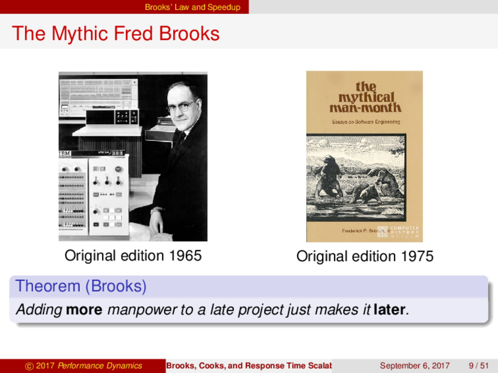 Brooks' Law and Speedup The Mythic Fred Brooks ...