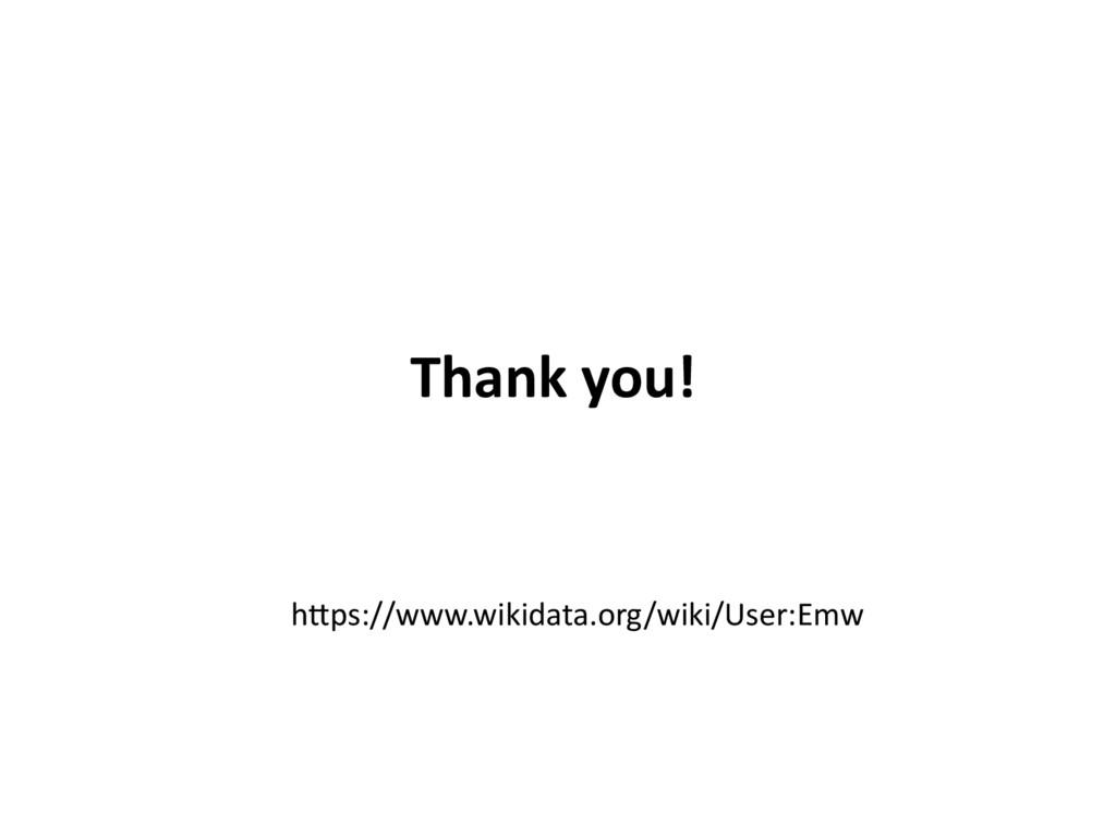 Thank you! l l l https://www.wikidata.org/wiki/...