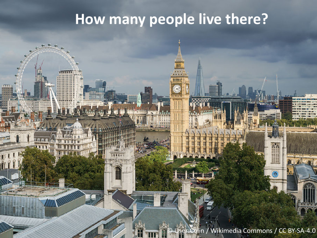 How many people live there? © User:Colin / Wiki...