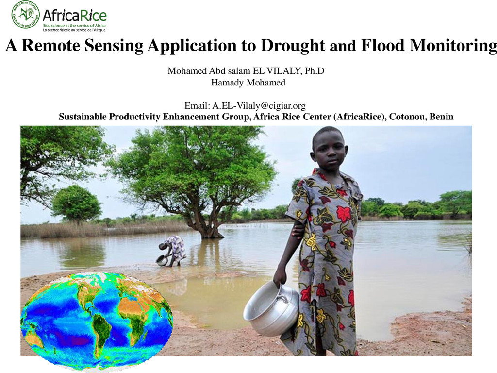 A Remote Sensing Application to Drought and Flo...