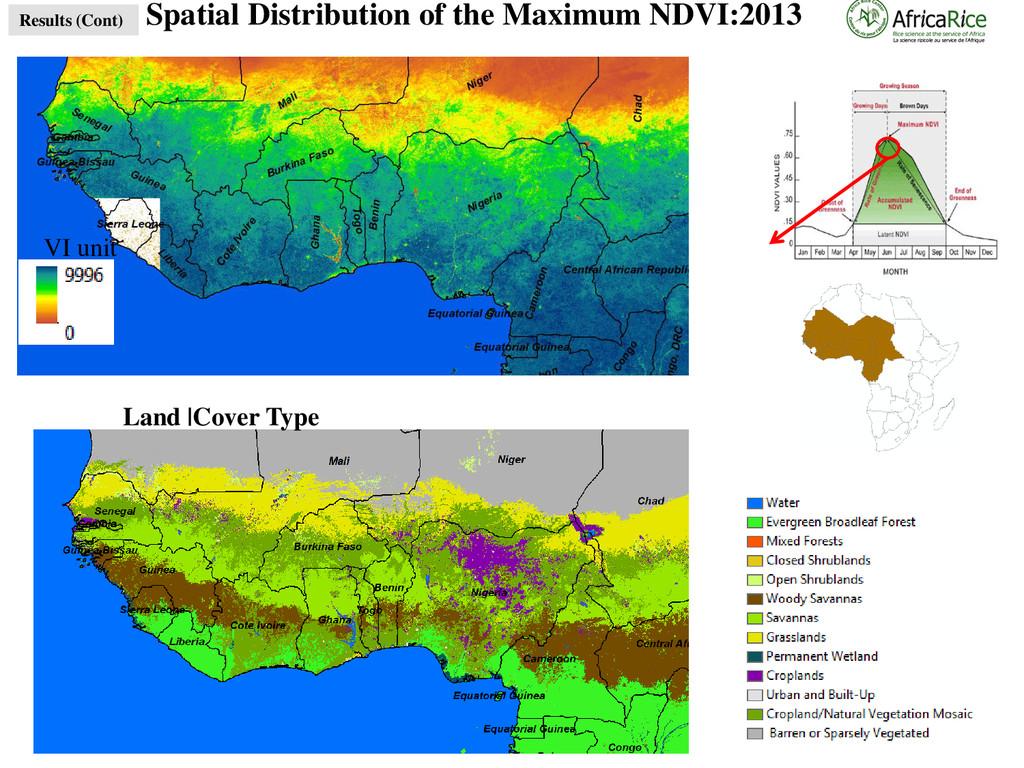 Spatial Distribution of the Maximum NDVI:2013 L...