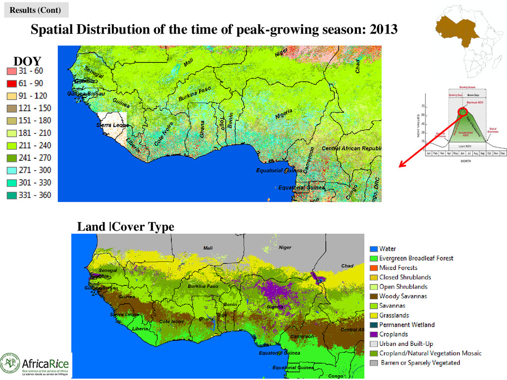 Spatial Distribution of the time of peak-growin...