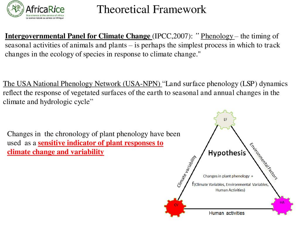 Theoretical Framework Intergovernmental Panel f...