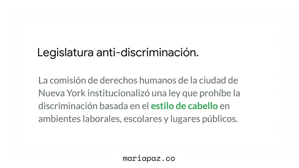 Legislatura anti-discriminación. 2019 La comisi...