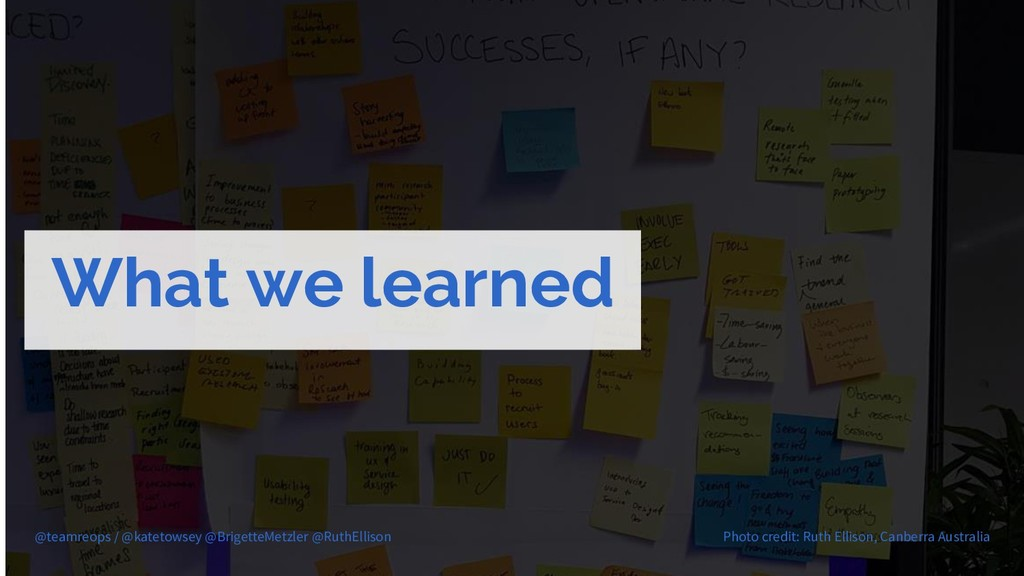 What we learned @teamreops / @katetowsey @Brige...