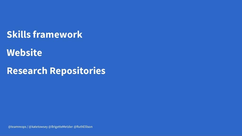 Skills framework Website Research Repositories ...